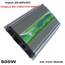 500W 600W Solar Grid Tie Inverter MPPT Function 20-60VDC input 110V 230VAC Micro On Grid Tied Pure Sine Wave Inverter