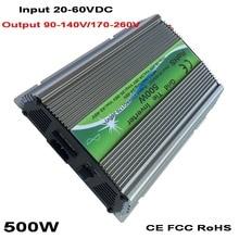 цены 500W 600W Solar Grid Tie Inverter MPPT Function 20-60VDC input 110V 230VAC Micro On Grid Tied Pure Sine Wave Inverter
