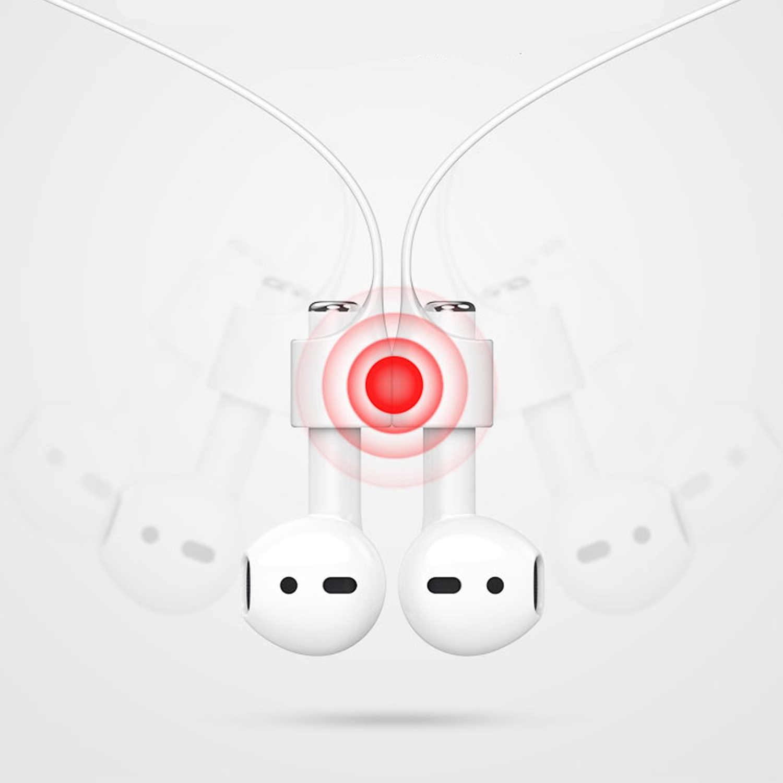Vococal Conjunto de Fones de Ouvido Sem Fio de Silicone Caso Capa Bolsa Titular Alça Anti-lost Olivas para Apple AirPods Vagens de Ar Acessórios