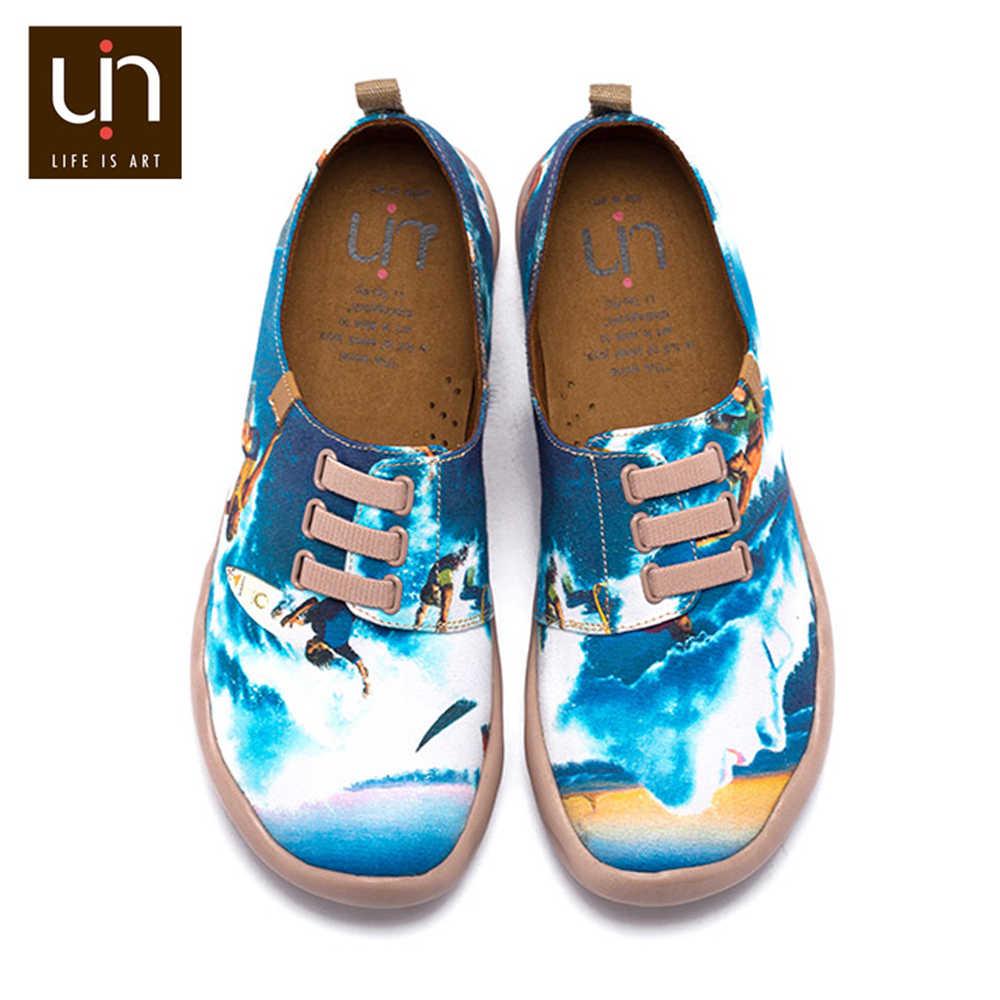 UIN Sörf Boyalı Tasarım Erkekler rahat ayakkabılar Geniş Ayak Yumuşak Loafer'lar Nefes Açık Ayakkabı Süper Hafif Konfor Ayakkabı