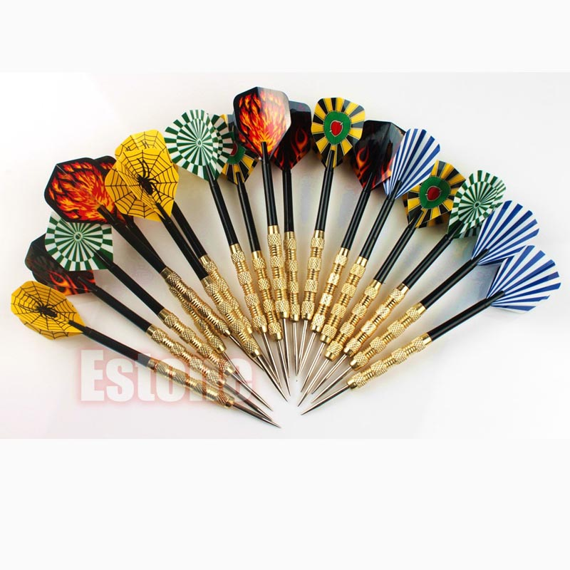 18 Pcs (6 Sets) Professional Steel Tip Darts Flight Steel Tip Dart Darts With Nice Flights