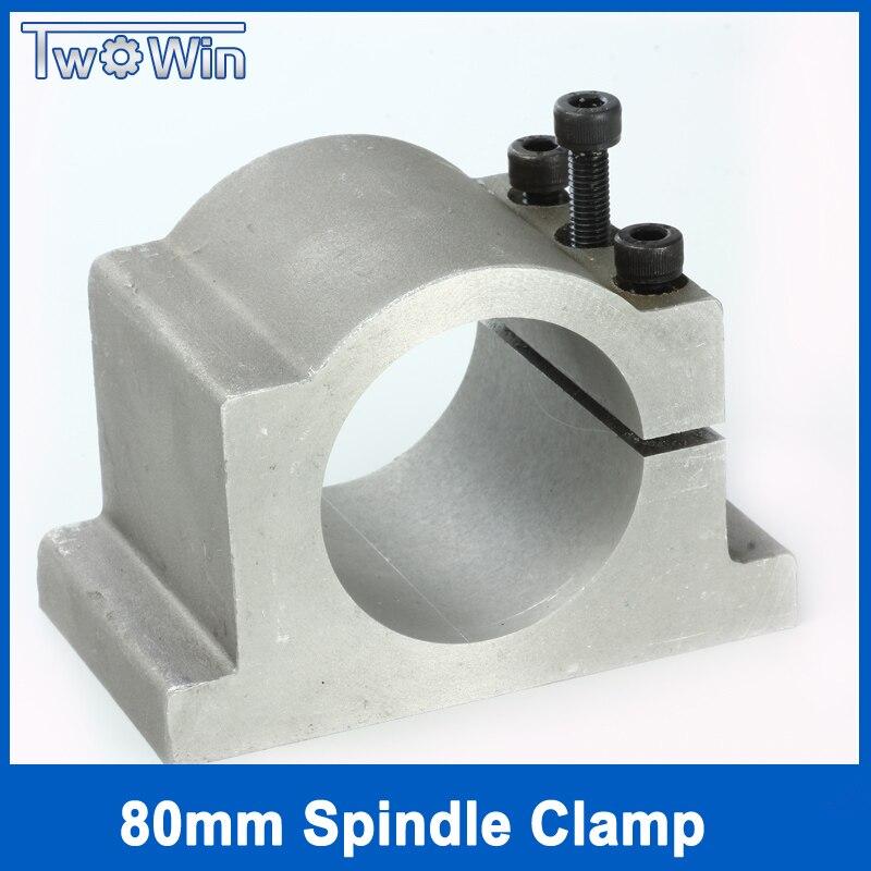 80mm broche pinces support sculpture machine pince moteur tour chuck match 1.5KW 2.2KW moteur de broche outil de fraisage tour