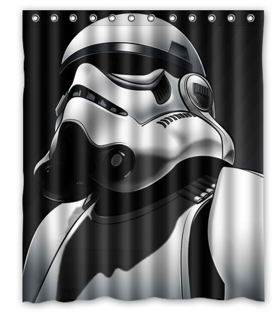 Star Wars Poster Yoda Death Trooper Printed Polyester Shower Curtain 60 X 72 Inch American Style Bathroom In Curtains From Home