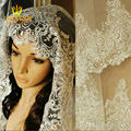 Wedding Veils 2015 3 Meters Long Wedding Veil White Ivory Lace Edge Bridal Veil with Comb veu de noiva longo