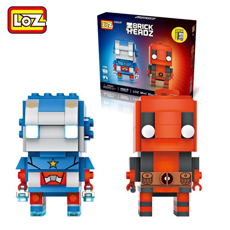 New Super Hero LOZ Building Blocks Mini Bricks DIY 1703 Iron Man & Deadpool Figure Assemble Toys Christmas Gifts For Children loz super mario bros building diamond blocks 17cm big size 1350pcs figure toy for age 14 offical authorized 9040