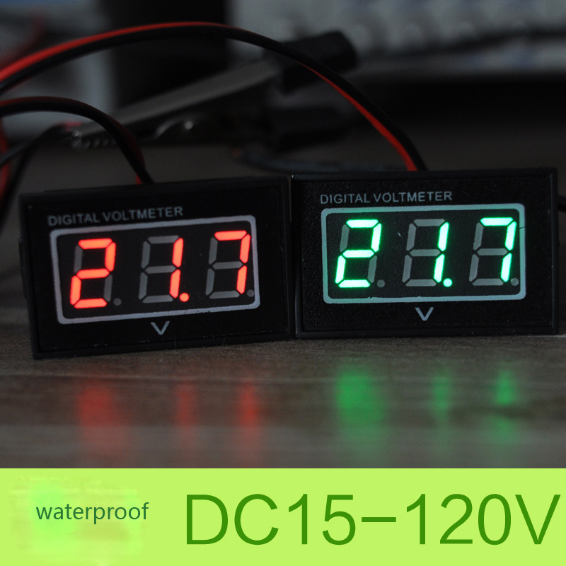 24V 36V 48V 60V Golf Cart Digital Voltage Meter Battery Gauge DC15-120V Club Car Green Waterproof and dustproof Two lines free shipping 12v 24v 36v 48v 72v battery meter digital voltage gauge for electric vehicles forklift truck club car