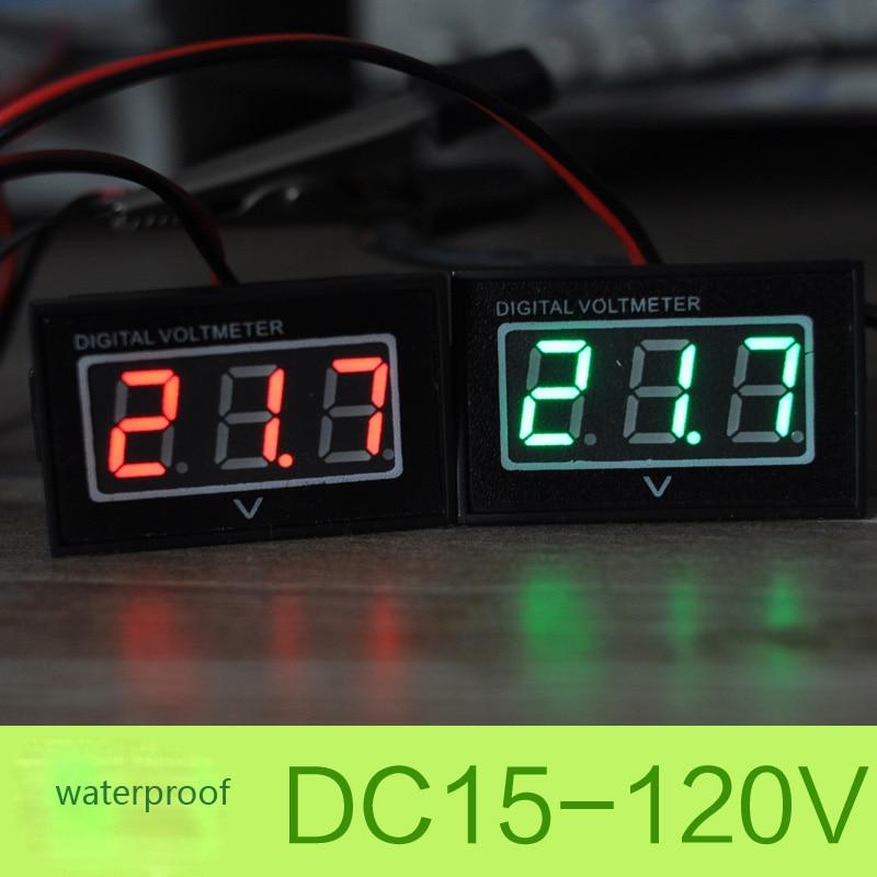 купить 24V 36V 48V 60V Golf Cart Digital Voltage Meter Battery Gauge DC15-120V Club Car Green Waterproof and dustproof Two lines по цене 300.55 рублей