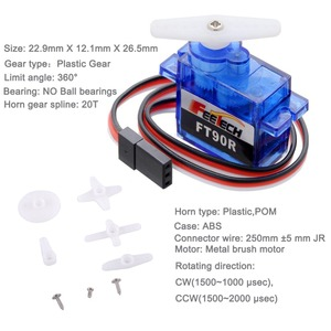 Image 2 - 10pcs Feetech FT90R Servos, 360 Degree Continuous Rotation 9g Micro RC Servo, 6V 1.5KG PWM For Drone Smart Car,Boat, Robot