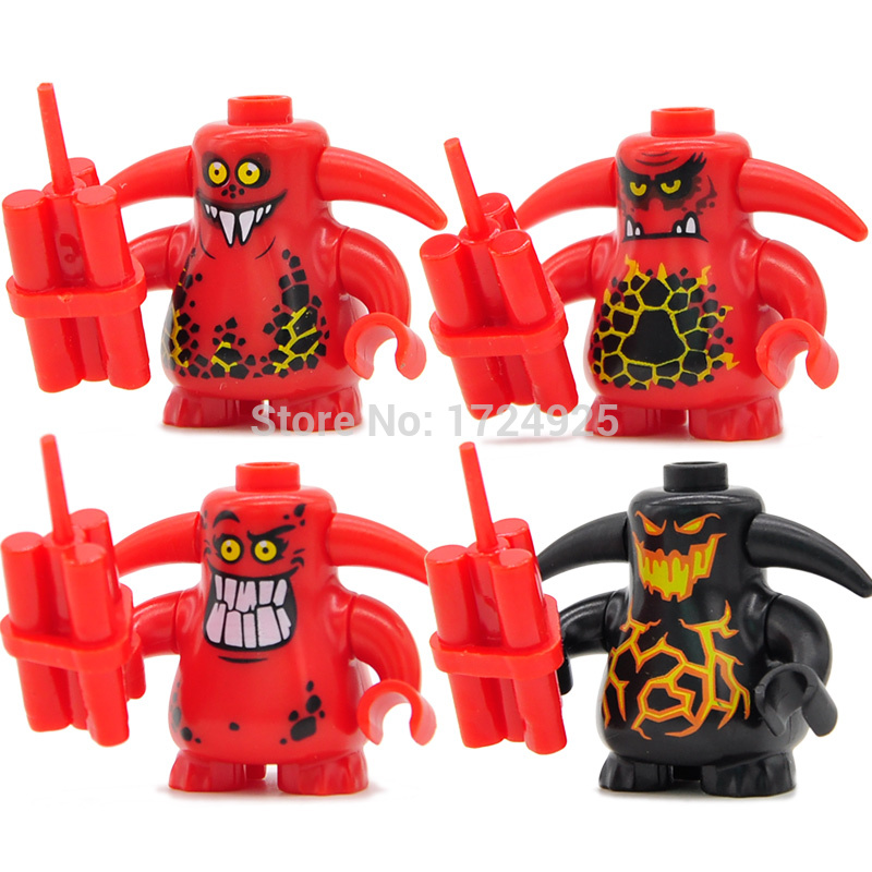 Single Sale Castle Warrior Figure Scurrier Teeth Angry Faces Block Building Blocks Set Models Bricks Toys For Children