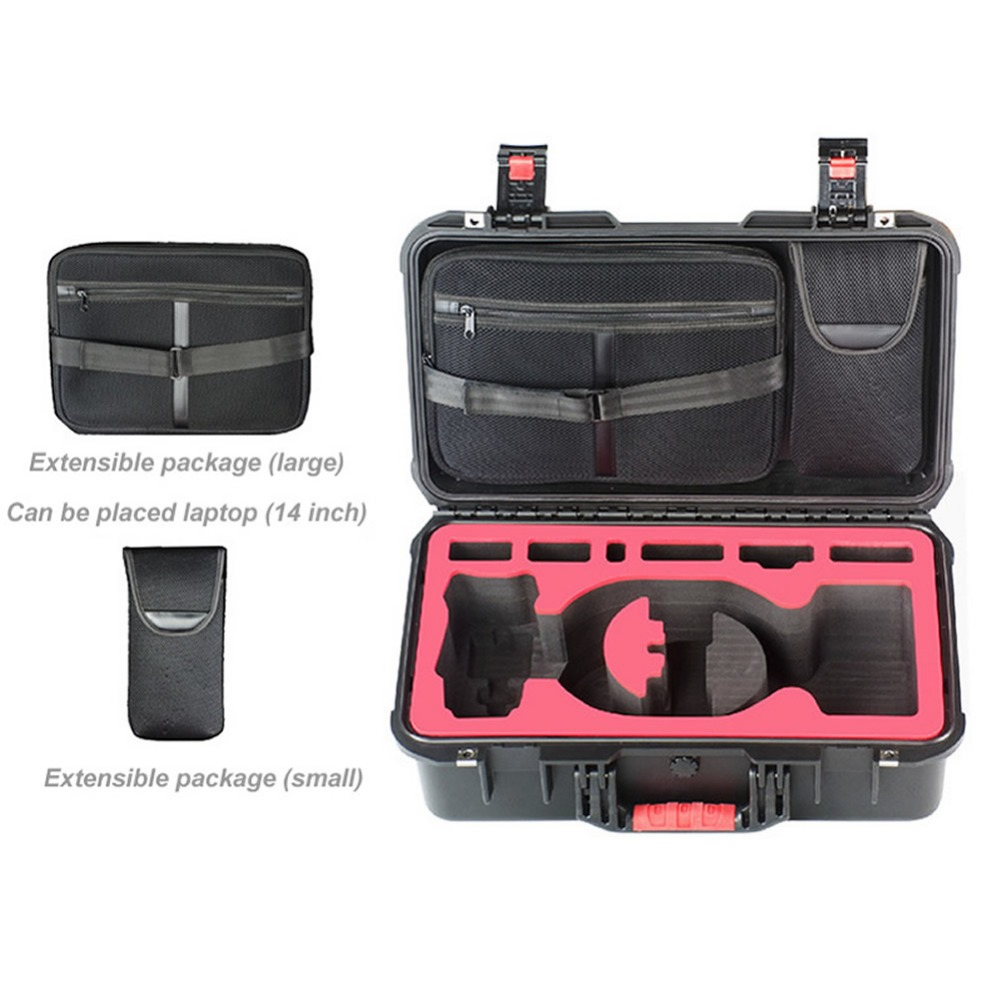DJI Mavic Pro Drone+Flying Glasses Safety Box Travel Transport Explosion-Proof Box Waterproof Hard Shell EVA Protective Case