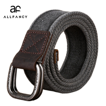 Men's Belt 2017 New canvas belt cotton the genuine double ring Army Tactical Waist Belt  casual strap pure jeans weaving belts