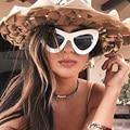 Cat Eye Sunglases Female Vintage Oval UV400 Oversize Cateye Sunglasses Women 2016 Luxury Brand Driving Sun Glasses Lunette Femme