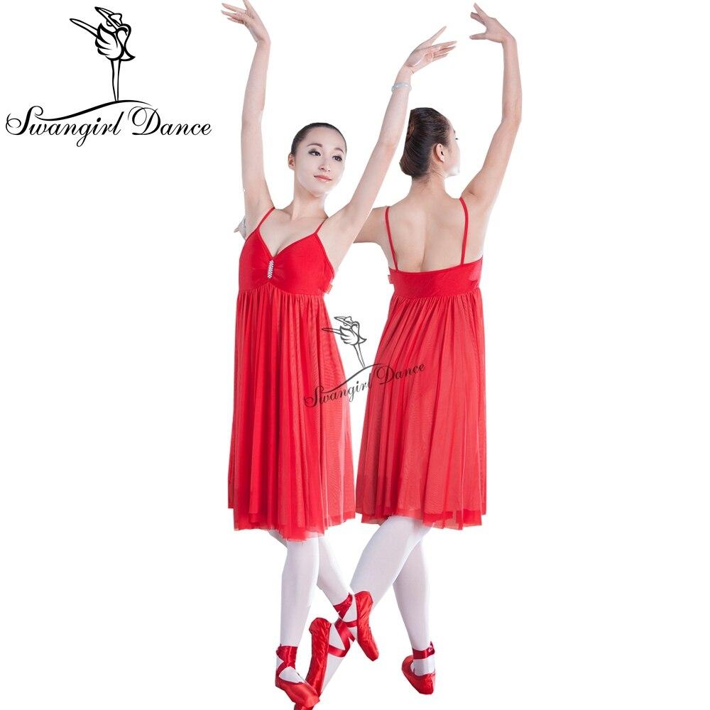 أحمر غنائي الباليه اللباس ل gilrs فتاة - منتجات جديدة