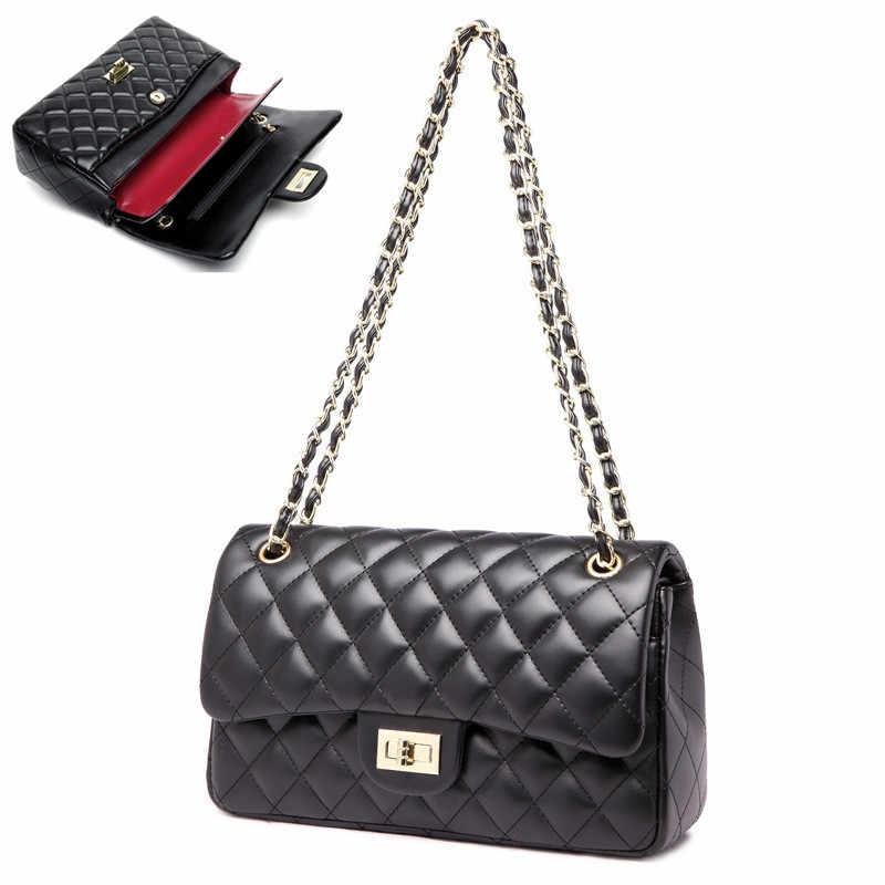 2018 Ladies Pu Leather Messenger Bags Small Shoulder Bag Crossbody diamond  bags High quality Chain Bag 78bf0d39d904e