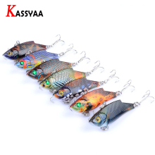 KASSYAA VIB Lure Fishing Kit 55mm 9.4g Hard Bait Vivid Vibration Fishing Lure #8 Treble Hook Plastic Bait Artificial Cicada Lure 6g 60mm bionic cicada insect fishing lures 5pcs floating plastic baits treble hook artificial locust hard bait lure