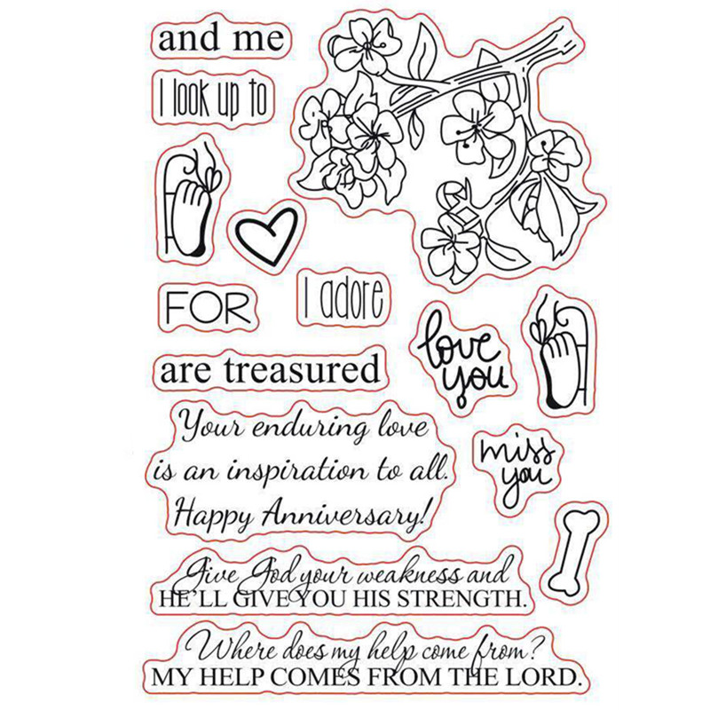 US $2 79 29% OFF|Sentiments Sayings Phrase New Born Flower Rubber Clear  Stamp/Seal Scrapbook/Photo Album Decorative Card Making Clear Stamps-in  Stamps