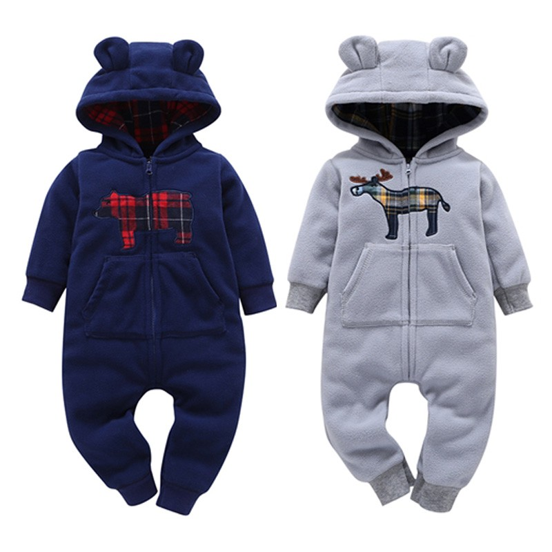 Infant Toddle Baby Clothes Winter Autumn Kids Boy Overalls Newborn One Piece   Romper   Girl Limited Cotton Unisex Print Full O-neck