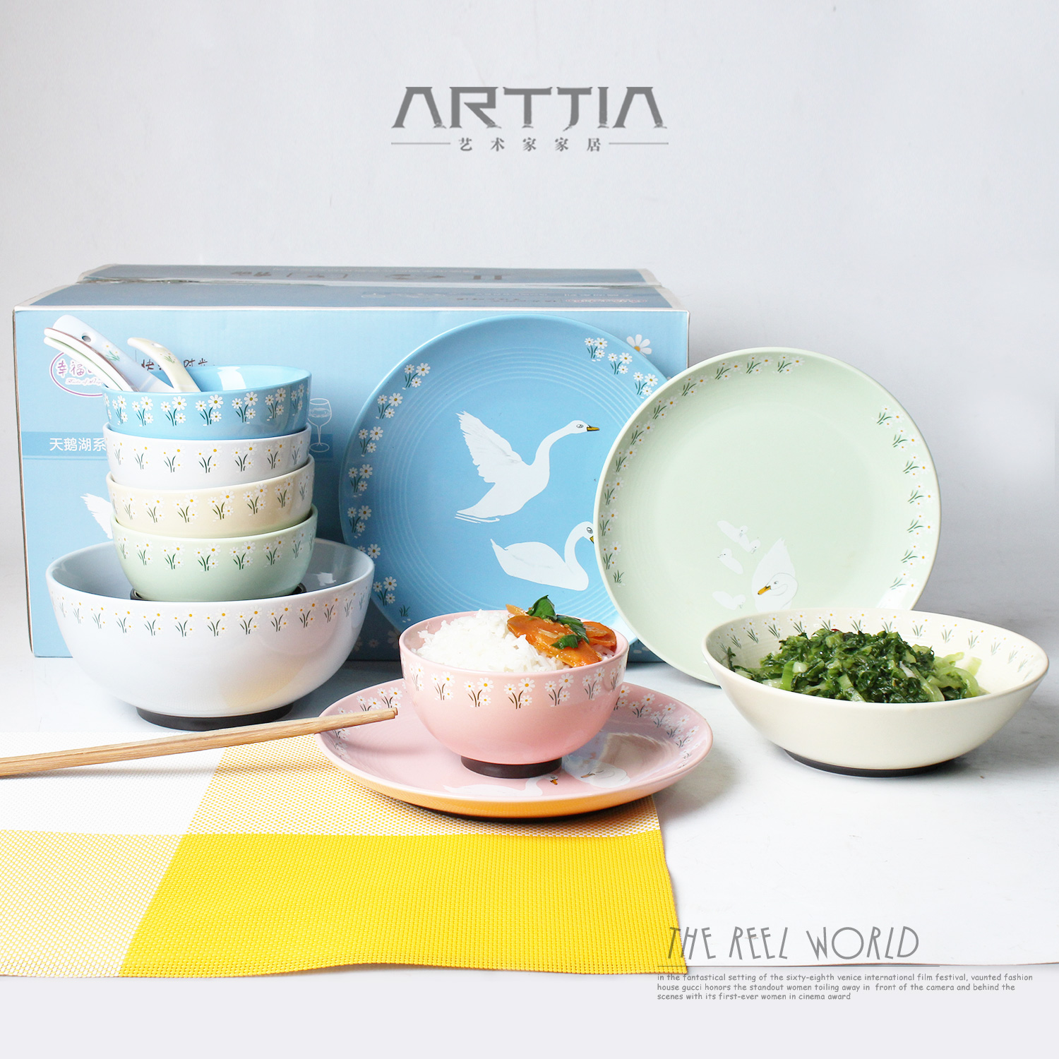 15 pcs candy color Japanese style floral ceramic dinnerware set-in Dinnerware Sets from Home u0026 Garden on Aliexpress.com | Alibaba Group  sc 1 st  AliExpress.com & 15 pcs candy color Japanese style floral ceramic dinnerware set-in ...