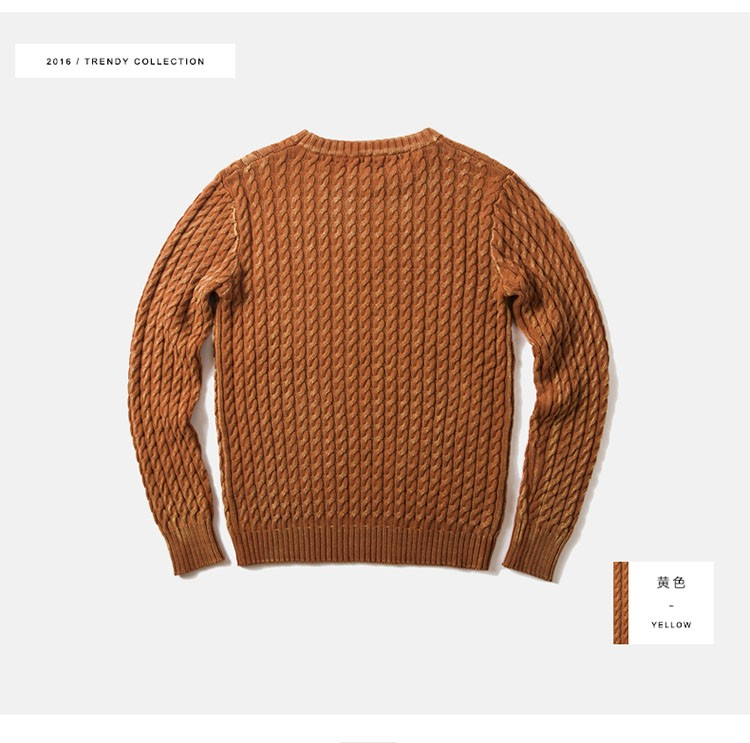 Aolamegs Men Sweater Fashion Casual Solid Color Knitting Pullover 2016 Autumn High Quality Simple Wild O-Neck Knitted Sweaters (3)