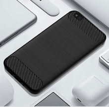 Funda de silicona para teléfono de carbono para Xiaomi 5C 5X fibra a prueba de golpes TPU contraportada para Xiomi Xiaomi 5C Xiaomi 5X armadura resistente suave 5 C X