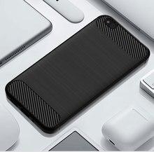 Siliconen Carbon Telefoon case Voor Xiaomi 5C 5X Fiber Shockproof TPU Cover voor Xiomi Xiaomi5C Xiaomi5X 5 C X zachte Robuuste Armor