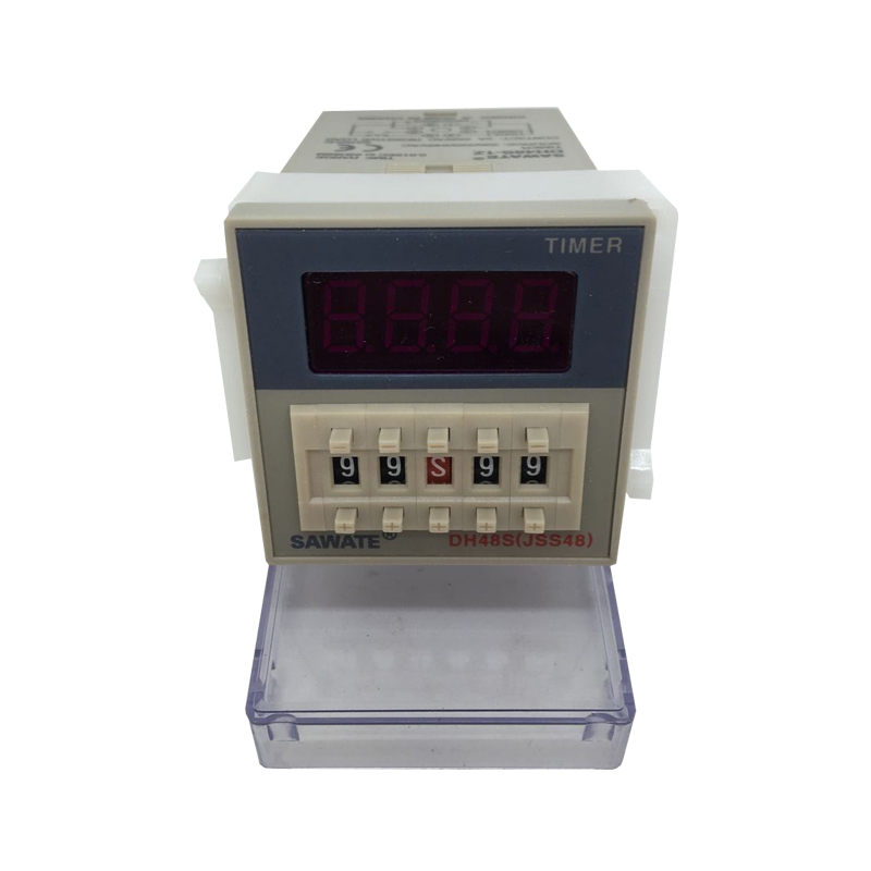 CE DH48S-1Z 0.01S-99H99M LED Display Programmable Digital Counter Relay AC220V 50/60Hz With Socket Base dh48j 8 1 9999 panel mount digital counter relay w base ac dc 24v 50 60hz