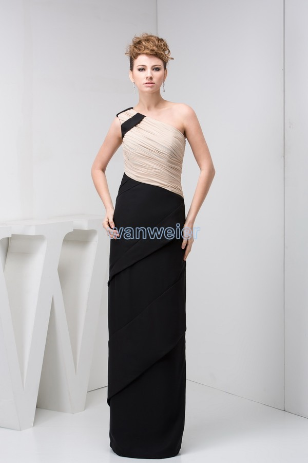 Free Shipping Vestido De Festa 2018 New Design Arrival Hot Custom Pleat One Shoulder Prom Gown Real Photo Bridesmaid Dresses