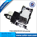 Resistente a la corrosión bomba de tinta para epson t50 l800 l801 r330 con precio barato en sistema de montaje de la bomba de tinta compl