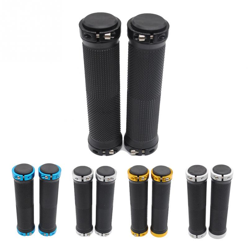 1 Pair MTB Mountain Bike Grips Rubber Lock On Handlebars Lock-on Grips Fixed Gear Fixie Grips End Knock Off Handlebar Cover
