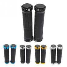 1 Pair MTB Mountain Bike Grips Rubber Lock On Handlebars Lock-on Grips Fixed Gear Fixie Grips End Knock Off Handlebar Cover цена в Москве и Питере