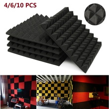 4/6/10 pcs 45x45x5cm Soundproofing Foam Acoustic Foam Studio Sound Treatment Absorption Proofing Wedge Tiles Polyurethane foam