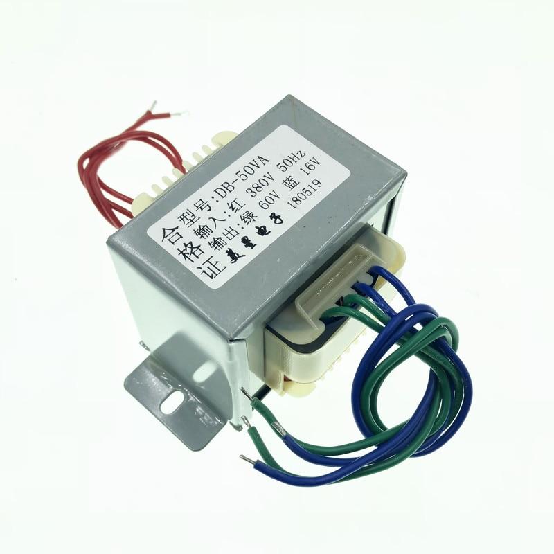 60V 16V Transformer 50VA 380V input EI66 Transformer Pulse bag filter non-contact controller switch transformer 16 16 16 pulse transformer driver board transformer