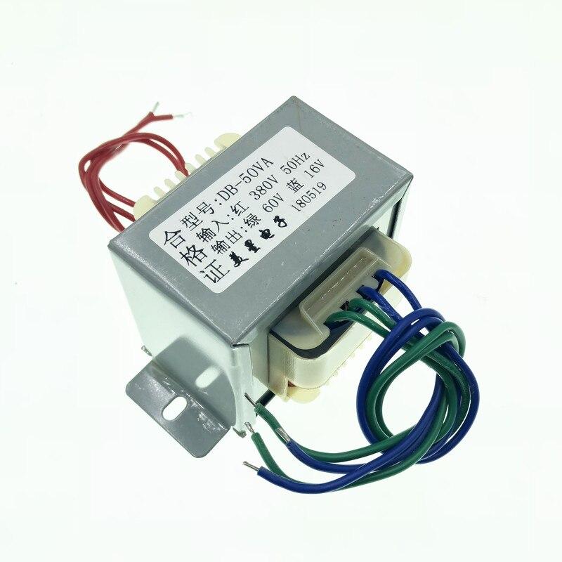 60V 16V Transformer 50VA 380V input EI66 Transformer Pulse bag filter non contact controller switch transformer