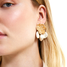 JUJIA Official Store Pearl/Stud/Earrings/ for Women/ Earing/fashion/jewelry Korea Design Metal Gold Geometric Irregular Circle