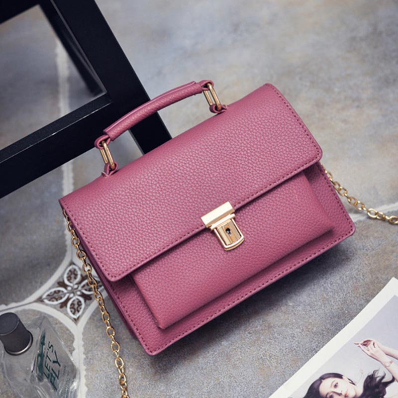 ФОТО New Genuine Leather Rock Color Handbags Women Fashion Color Rivets Shoulder Bags Easy Matching For Valentines SS0146