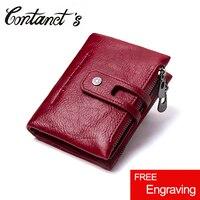 2017 New Design Vintage Purse Genuine Leather Women Short Style Wallet Hasp Wallet Zipper Purses Card