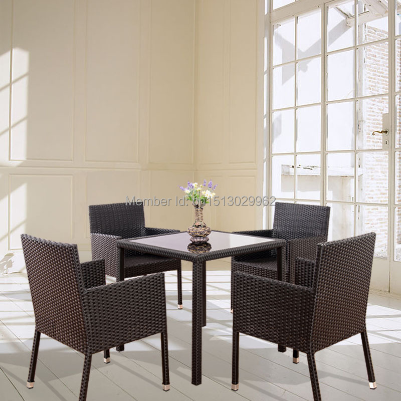 Set Da Pranzo In Rattan.Modern Rattan Wicker Dining Room Tables And Chairs Dining Set For