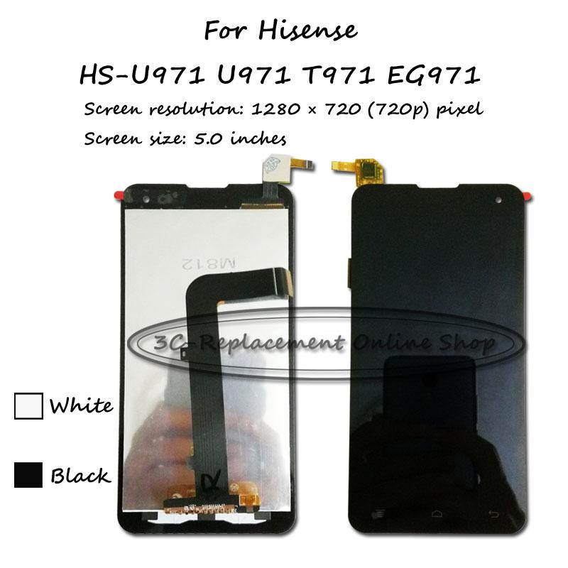 """imágenes para Negro/Blanco LCD + TP 5.0 """"Para Hisense HS-U971 U971 T971 EG971 Pantalla LCD con Pantalla Táctil Digitalizador Envío Libre de la asamblea"""