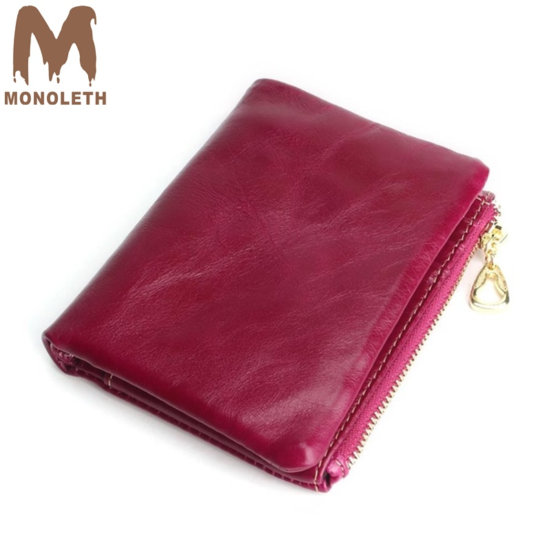 MONOLITH Genuine Leather Wallet Women And Purses Coin Purse Female Small short Wallet Lady Purse For Girls Money Bag W3006 cute girl hasp small wallets women coin purses female coin bag lady cotton cloth pouch kids money mini bag children change purse