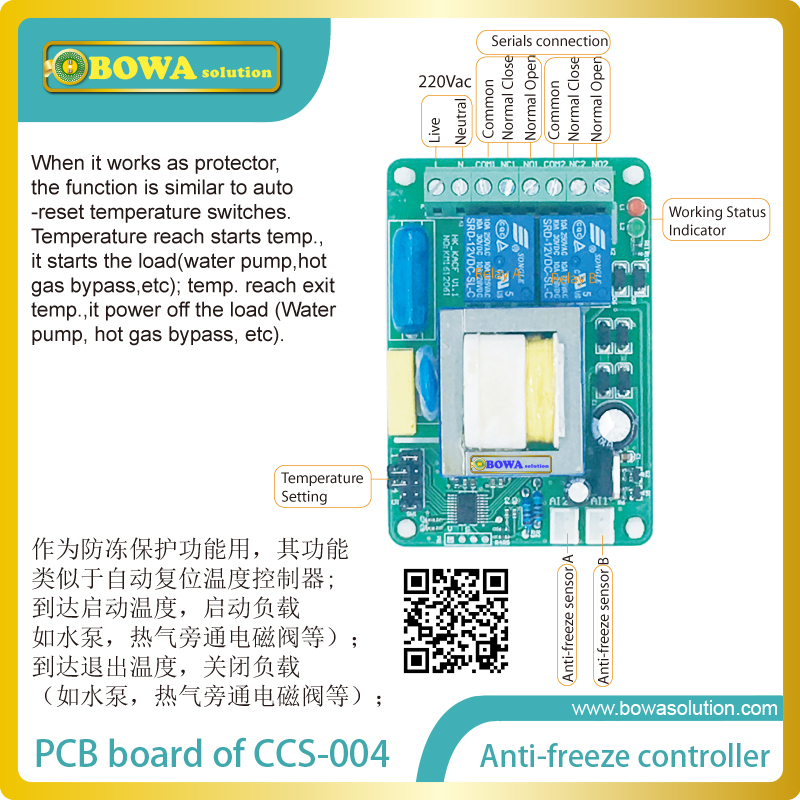 цены Anti-freeze switch (intelligent anti-freeze controller) to avoid overcooling or icing of cooling  coils & liquid  handling pipes
