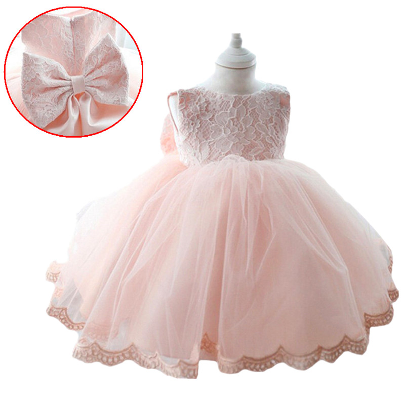 2018 New summer and autumn Princess Girls Party Dresses for party baby fashion Pink Tutu dress Girls Wedding Dress kids dress