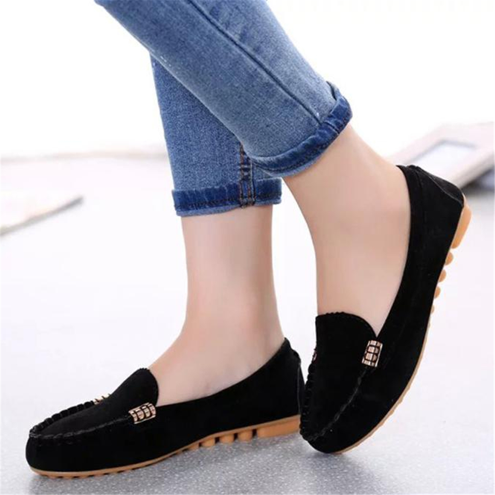 Spring And Autumn 2016 New Women Fashion Suede Flats Shoes Slip On Comfortable Shoes Loafers Leisure Low-heeled Flat Shoes ciss suit for epson stylus photo r1900 suit for t0870 t0871 t0879 series fulll dye ink ciss with arc chips