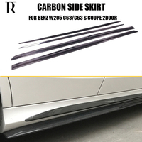 C205 C63 PSM Style Carbon Fiber Side Skirt for Benz C205 C63 & C63s AMG Coupe 2DR 2015 2017 Auto Racing Car Side Skirts bodykit