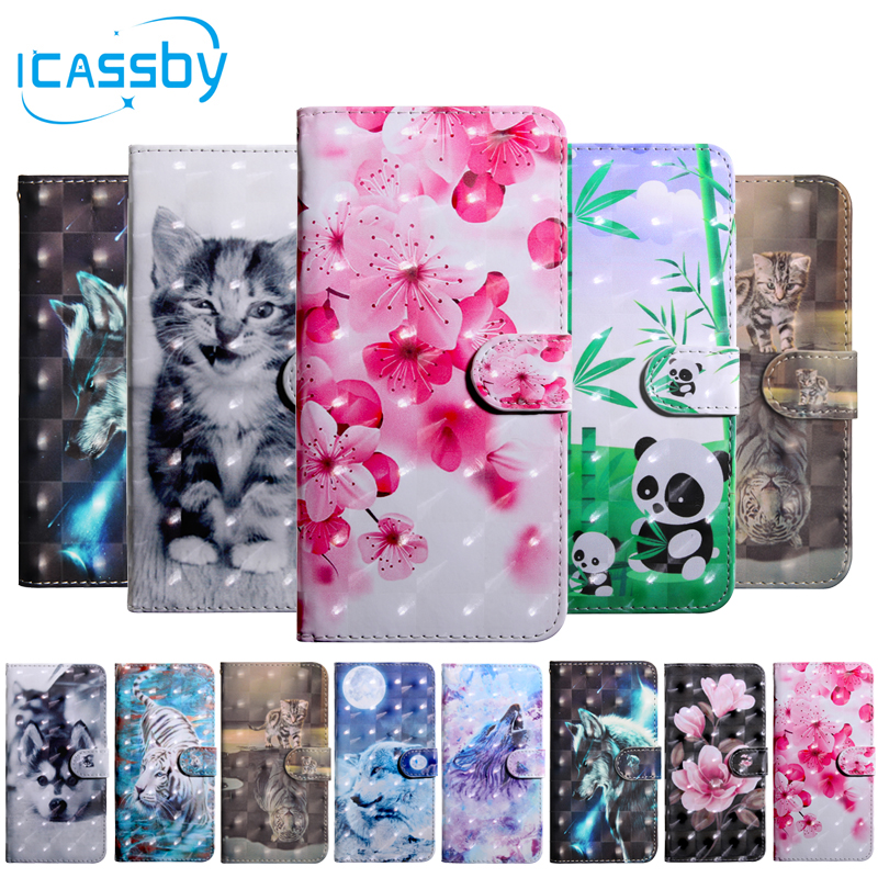 2019 New Style Flip Book Case For Coque Motorola Moto G7 Play Cute Cat Panda Leather Wallet Phone Cover For Motorola G7 Play G7play Case Etui Luxuriant In Design
