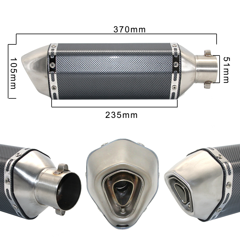 Image 4 - ZSDTRP Universal Motorcycle Exhaust Akrapovic Escape Moto Muffler Pipe With Removable DB Killer GY6 CBR125 CB400 CB600 YZF-in Exhaust & Exhaust Systems from Automobiles & Motorcycles
