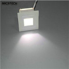Recessed LED Step Lights Pathway Wall Corner Lamps Outdoor Waterproof LED Stair Light Aluminum Square Wall Lamp  AT-71