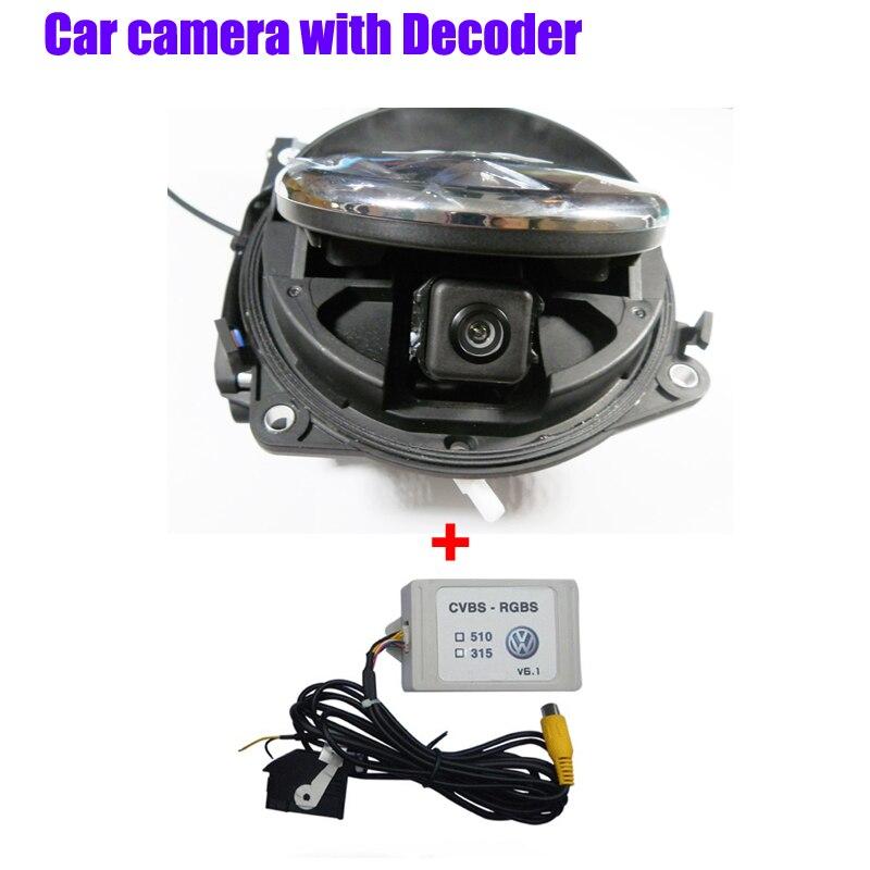 VW Flipping Reverse Camera for Volkswagen Golf 5 6 MK6 Passat B6 CC Magotan RGB adapter