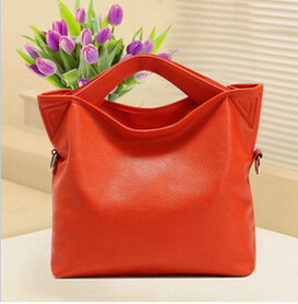 2017 fashion Orange Top-Handle Bags female tote bags for women purses and handbags women leather handbags women shoulder bag