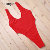 2016 New Arrival Black Blue Red High Waist Vintage Style One Pieces Women Bikinis Suit Swimsuit