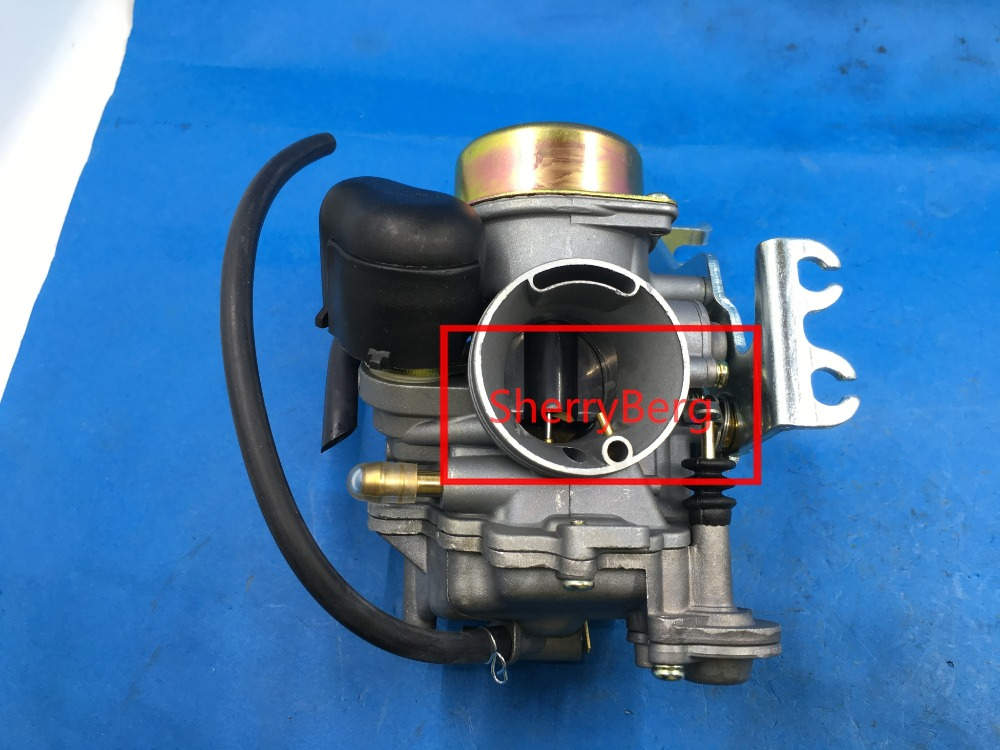 ФОТО Pull-up 30mm CVK30 Carburetor with heater fit honda Aeolus VOG TANK 260 YP250 Suzuki Skywave 250, Burgman 250  SYM GTS 250
